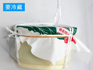青菜漬(800g・樽詰)のパッケージ横面画像