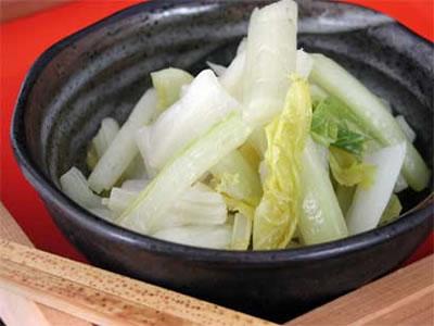 雪菜ふすべ漬の盛り付け画像